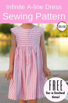 Free girls dress sewing pattern Free girls dress sewing pattern,Easy Sewing Projects for Kids {Girls} Looking for the perfect basic dress pattern to make for a little girl? My best-selling Infinite A-line Dress PDF. Little Girl Dress Patterns, Toddler Dress Patterns, Sewing Patterns For Kids, Dress Sewing Patterns, Little Girl Dresses, Pattern Sewing, Child Dress Pattern Free, Easy Dress Pattern, Girls Dresses Sewing