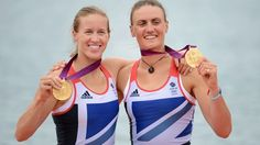 Way to go Helen Glover and Heather Stanning for winning gold in the  Women's Pair.  It was both the first gold for Team GB, but also the first-ever rowing gold for British Women.