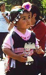 mundo mapuche para niños: Vestimenta típica mapuche.