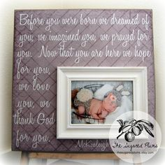 Baby Picture Frame Personalized Picture Frames by thesugaredplums, $75.00