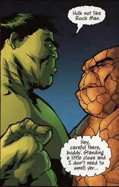 The Hulk and The Thing