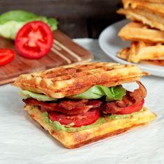 Cheddar Cornmeal Waffle BLTA - oohhhh yes!!