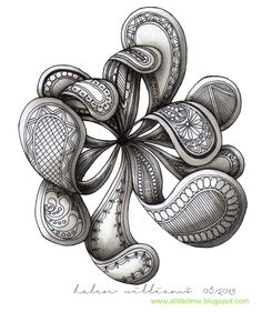 a little lime zentangle | Paisley Flower