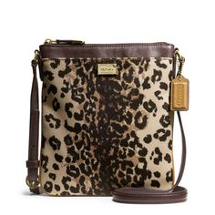 The Madison Swingpack In Ocelot Print Fabric from Coach