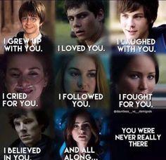 Harry Potter, Thomas, Percy Jackson, Hazel Grace, tris prior, katniss everdeen, Sherlock Holmes, and clary fray
