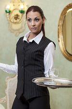 PAGAMENTO ANCHE ALLA CONSEGNA Gilet Donna Gessato divisa Cameriera Sala Bar Ristorante - Abiti da Lavoro