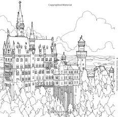 New Top Sell Steve McDonald Fantastic Structures Adult Coloring Book Amazing… Coloring Book Art, Colouring Pages, Adult Coloring Pages, Coloring Stuff, Coloring Sheets, Steve Mcdonald, Doodle Art Letters, Château Fort, Painted Books