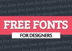 Free Download: 36 Best Fonts #bestfonts #freefonts #fontsfordesigners #downloadfonts