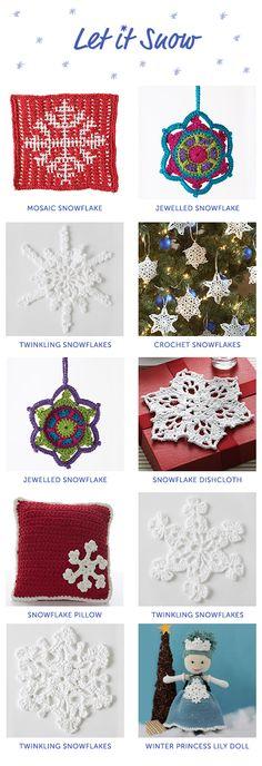 Knit and crochet snowflakes | Yarnspirations | Free patterns