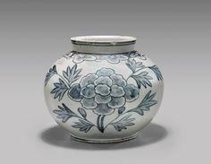 ANTIQUE KOREAN BLUE & WHITE JAR