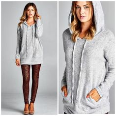 ️Oversized Slouchy Boyfriend Knit hoodie Fabulous and soft hoodie with kangaroo pocket details it's such a great alternative to your casual sweatshirt look . Soft luxury and has great stretch . Great for traveling . Color available .light mocha nwot Vivacouture Sweaters