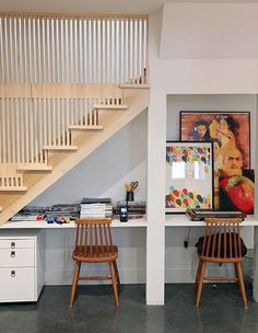 Not vibe, but good use of working space under stairs