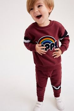 Buy Berry Happy Bouclé Top And Joggers Set from the Next UK online shop Latest Fashion For Women, Mens Fashion, Next Official, Joggers, Suits, Children, Sweatshirts, Boys, Happy