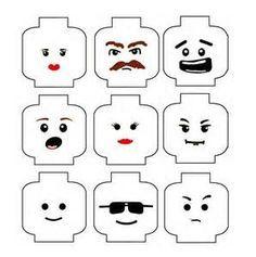 Free printable Lego heads
