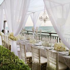 mooi gestylde huwelijks diner tafel Seychellen