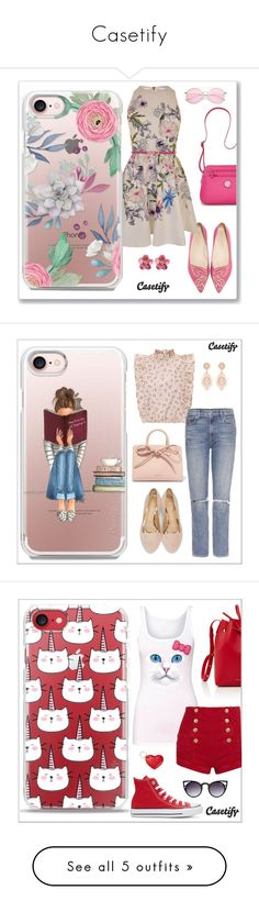 """""""Casetify"""" by elli-argyropoulou ❤ liked on Polyvore featuring Sophia Webster, Ted Baker, Kim Rogers, Casetify, GRLFRND, Charlotte Olympia, Mansur Gavriel, Pierre Balmain, Converse and Delpozo"""