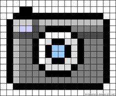 Camera perler bead pattern