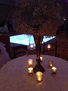 Like the candles and the tall center piece