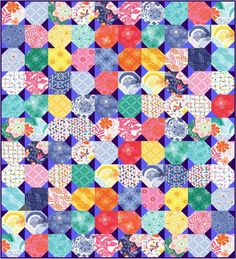 What I can make with 110 charms from #aussiecharmswap. Irregular snowball pattern www.quiltjane.com