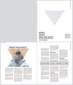Magazine Layout Mockup by Erin Mutlu, via Behance #GraphicDesign #Magazine