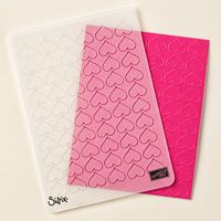 Happy Heart Textured Impressions Embossing Folder by Stampin' Up! $7.50