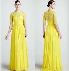 NEW AUTUMN WINTER WOMEN WEDDING DRESS SEXY HOLLOW YELLOW LONG MAXI LACE PROM DRESS WOMEN BANDAGE BODYCON BALL GOWN FORMAL PROM PARTY DRESSES