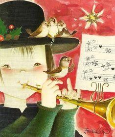Божьей милостью от ангелков... Художник Joan Ferrandiz Christmas Clipart, Vintage Christmas Cards, Spanish Painters, Big Eyes, Illustration, Decoupage, Clip Art, Disney Princess, Disney Characters