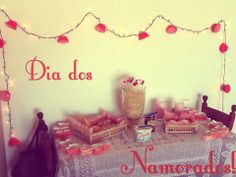 Decoração simples de Dia dos Namorados!