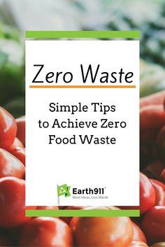 Food waste is such a big problem. We just got a small composting bin to through our food scraps in. Apartment composting isn't easy but I can't stand throwing any food in the trash.