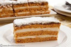 Romanian Desserts, Romanian Food, Cookie Recipes, Dessert Recipes, Russian Cakes, Food Obsession, Pastry Cake, Sweet Cakes, Ice Cream Recipes