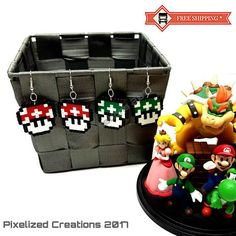 Super Mario Bros. Videogame Inspired Custom Mushroom Silver
