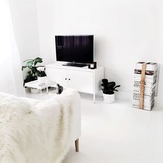 Minimal living room with Ikea 'PS' cabinet
