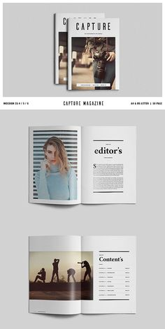 Capture Magazine / Portfolio #brochure #template #indesign #magazine #lookbook #portfolio #catalog #lifestyle #fashion