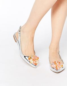 ASOS LIGHT UP Pointed Ballet Flats at ASOS. Bridal Flats, Wedding Flats, Bridal Footwear, Pointed Ballet Flats, Pointy Toe Flats, Ballerina Shoes, Ballet Shoes, Shoe Boots, Flat Shoes
