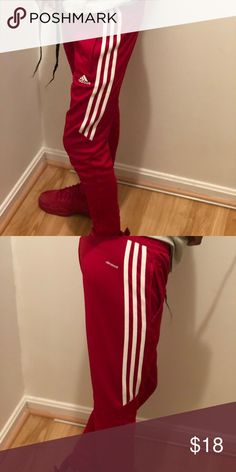 4cb66e4a1 Red Adidas Climacool Sweat Pants Red Adidas Climacool Sweat Pant size Med  11-12Y.