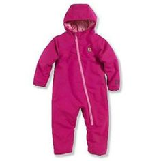 Carhartt - Infant Girl's Quick Duck Lined Snowsuit - Pink (LT APPAREL GROUP P1362460), GIRLS INFANT SETS