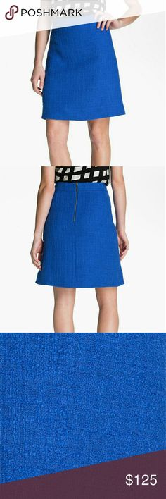 Kate Spade Anita Skirt Bright, monochromatic tweed weaves a perky A-line skirt with angled seaming. It has been worn a few times and dry cleaned.? Size 4 GUC No trades/no transactions off Posh reasonable offers considered kate spade Skirts Midi
