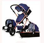 Luxury Baby Stroller 3 in 1 High Landscape Pram foldable pushchair & Car Seat $