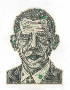 Top 10 des collages en billets de un dollar par Mark Wagner, preuve que la création, ça coûte cher