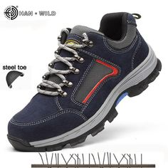 Work & Safety Boots Brave Mens Steel Toe Cap Work Safety Shoe Genuine Leather Casual Anti-kick Footwear Outdoor Puncture Proof Boot Size 35---45 Clients First Back To Search Resultsshoes