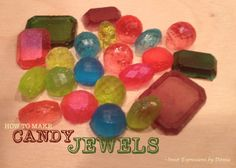 How to make candy jewels from jolly rancher candies.