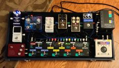 Chad from Stone Driver's pedalboard.