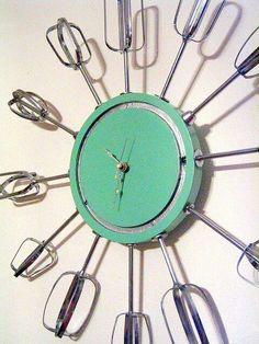 Mixer blade clock