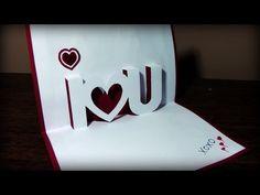 Jak zrobić kartkę Walentynkową #5 - YouTube