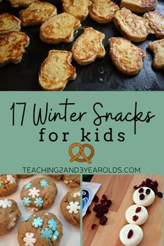 17 winter snacks that toddlers and preschoolers can help you make - in the classroom or in the kitchen. Great for class parties, too! Winter Snacks, Winter Food, Toddler Preschool, Toddler Activities, 3 Year Old Activities, Toddler Behavior, Allergy Free Recipes, Winter Crafts For Kids, Cooking With Kids