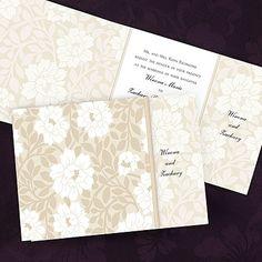 Blooming Romance - Champagne - Invitation weddingneeds.carlsoncraft.com