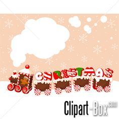 CLIPART CANDY TRAIN CARD