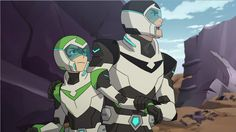 Shiro struggles with a protesting Pidge from Voltron Legendary Defender