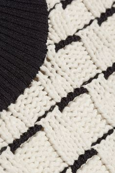 3.1 Phillip Lim | Two-tone textured-knit sweater | NET-A-PORTER.COM