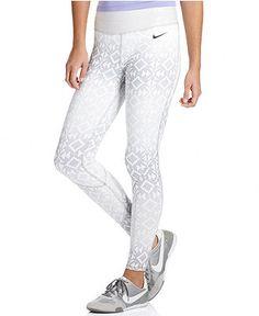 $55  Nike Pants, Pro Hyperwarm Dri-FIT Printed Active Leggings - Womens Shop All Activewear - Macy's